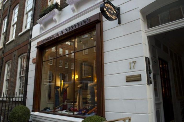 『男子服飾用品店』Anderson & Sheppard Haberdashery