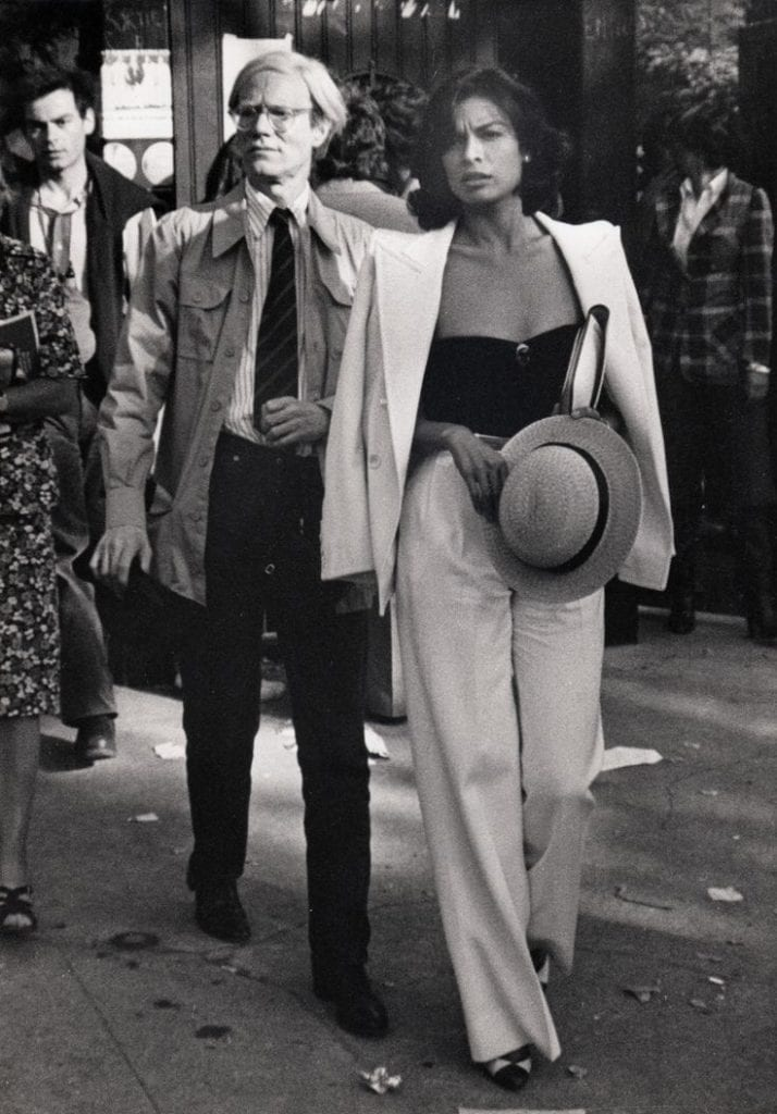 Bianca Jagger with Andy Warhol