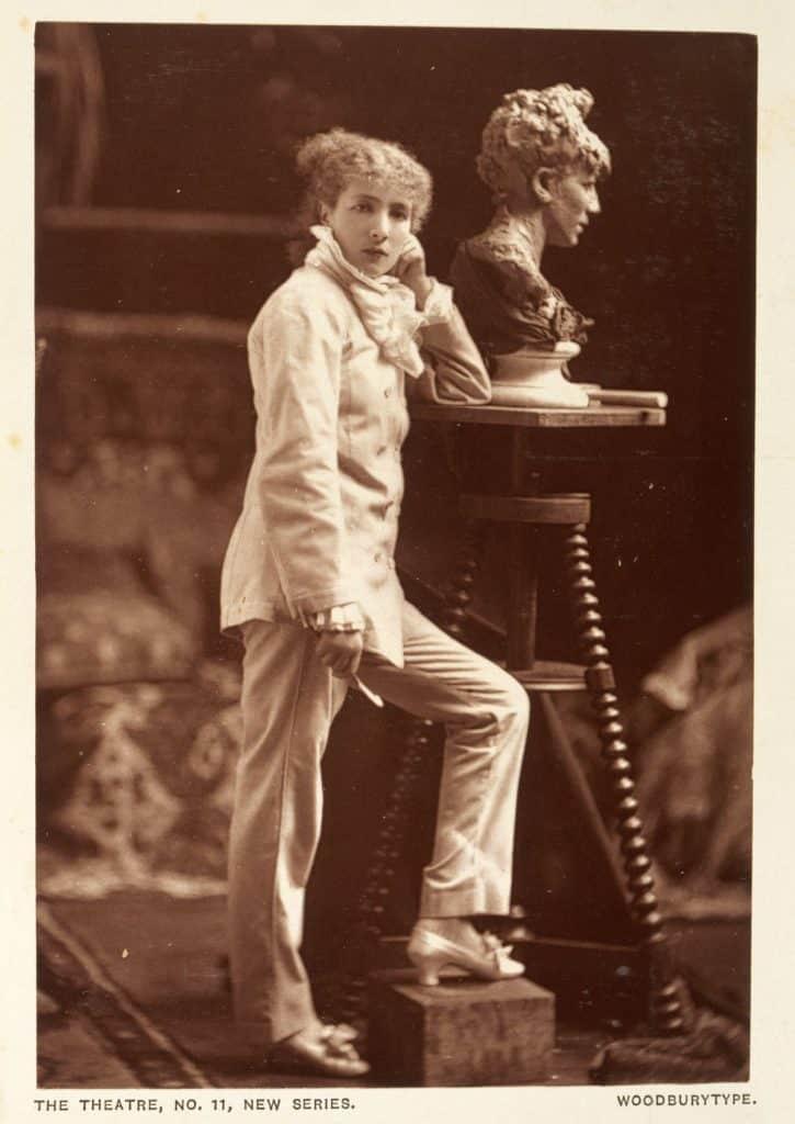 Sarah Bernhardt in pantsuit