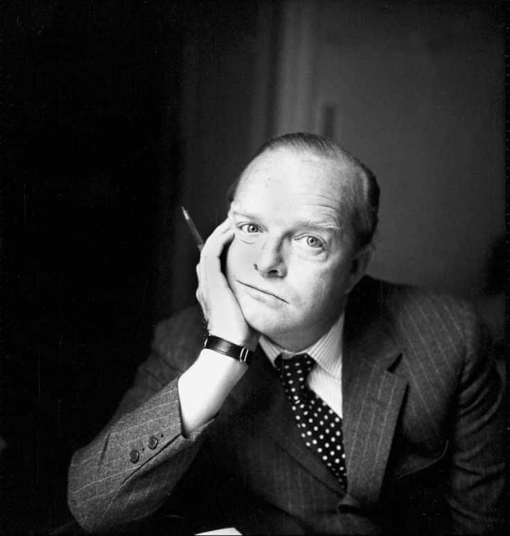 佩戴Cartier腕表的杜鲁门·卡波蒂(Truman Capote),「蒂凡尼的早餐」的作者