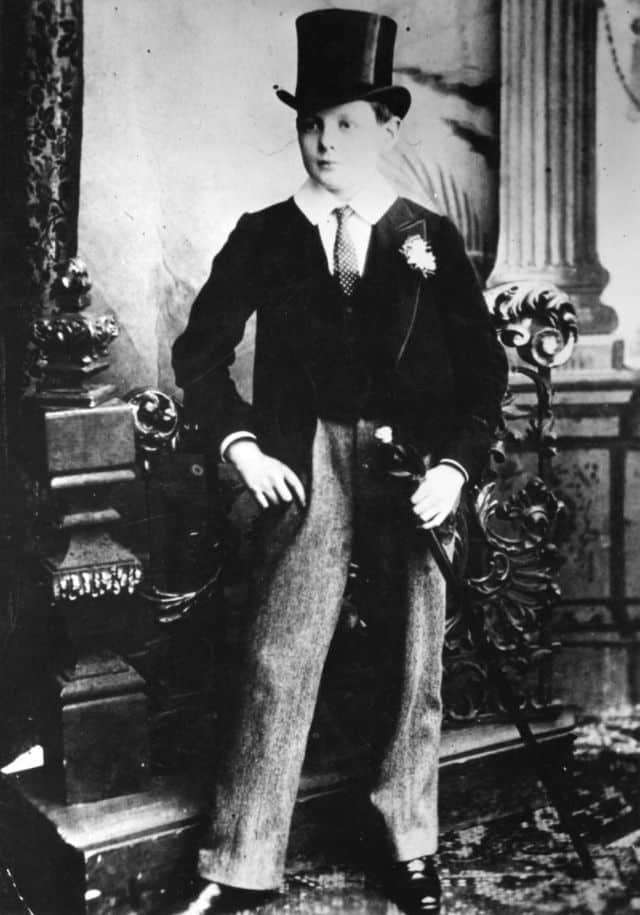 Churchill as a Harrow schoolboy, 1889. Agnes' Select