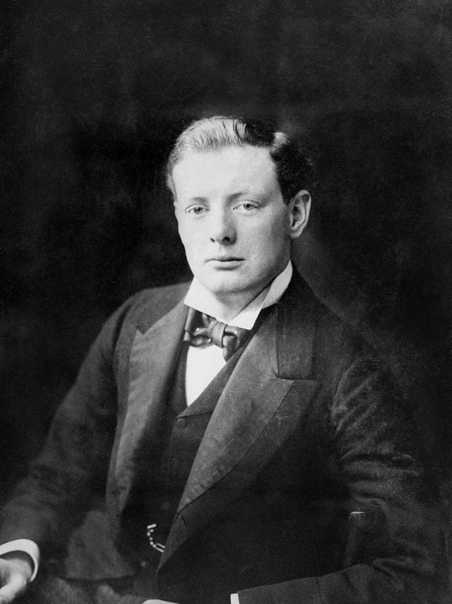 Young Winston Churchill