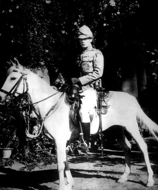 1897, Churchill on a white horse