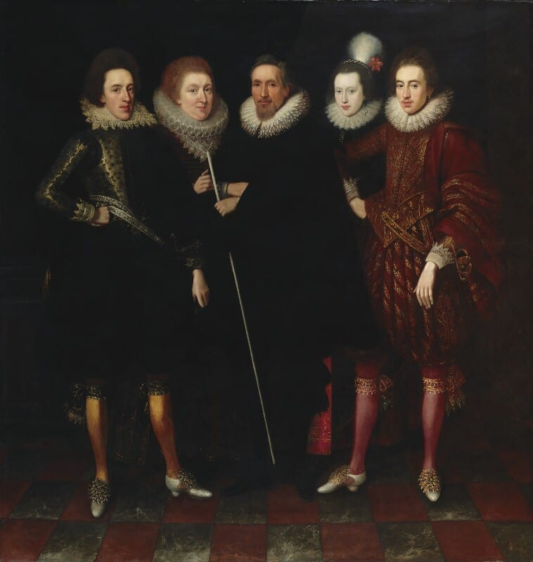 The 1st Earl of Monmouth and his family attributed to Paul van Somer oil on canvas, circa 1617