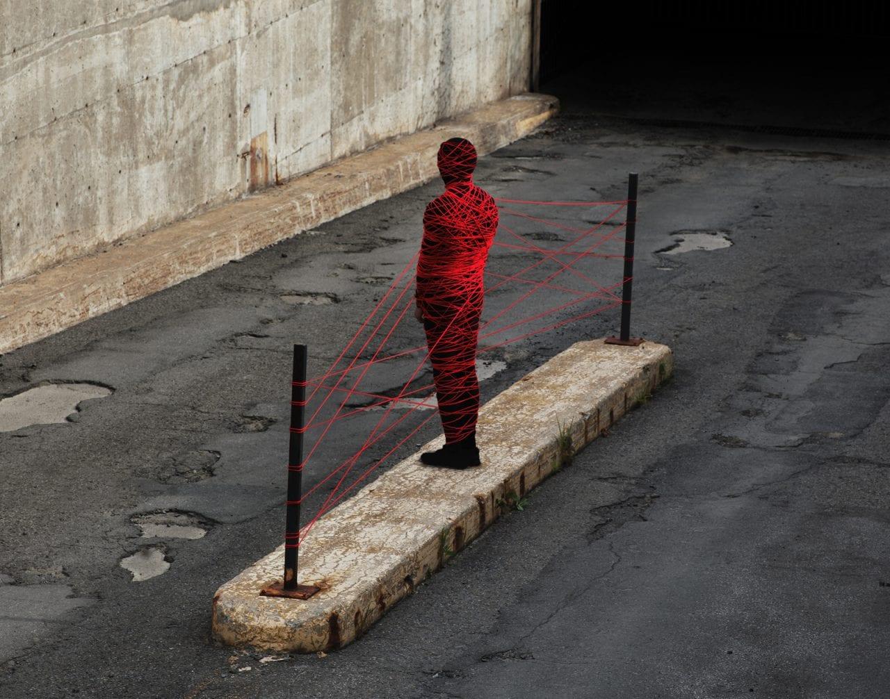 Untitled (Red Thread), Sean Mundy